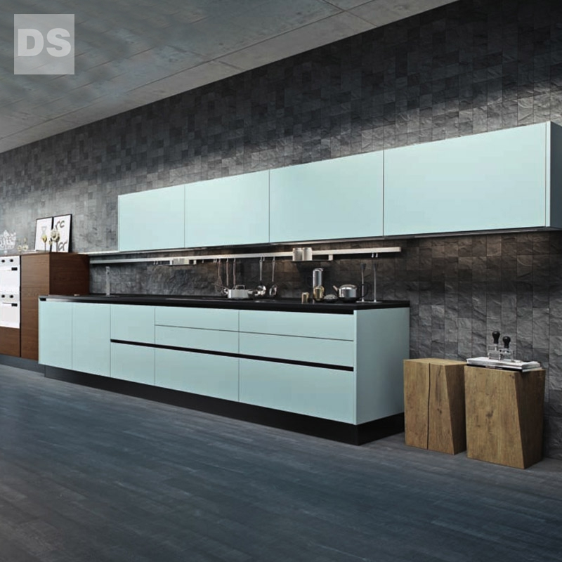 Straight industrial wind matte kitchen cabinets