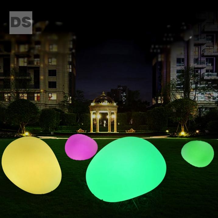 charging glowing stone lamp garden villa landscape