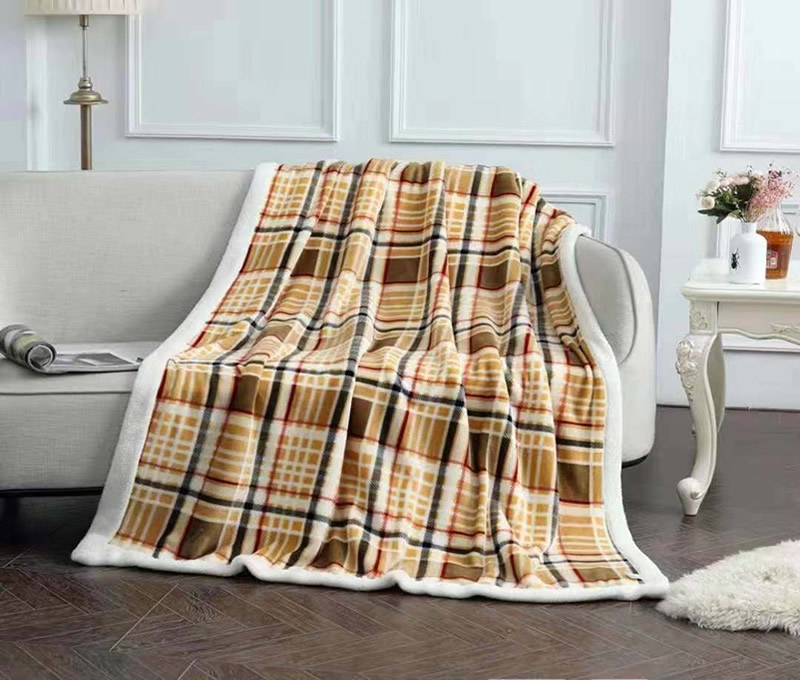 Printed Flannel& Shu velveteen Fleece Blanket